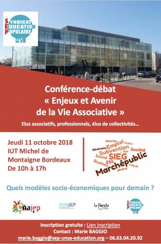 Conférence-débat 'Enjeux et avenir de la vie associative'