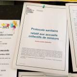 Le protocole sanitaire validé et la nouvelle foire aux questions pour les ACM – Photo © Laurence Fragnol