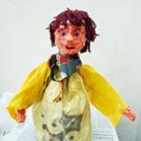 Une marionnette en tissu