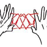 Jeux de ficelle : la chauve-souris