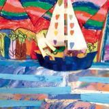 Une flottille de petits voiliers