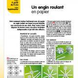 Gabarits de la fiche « Un engin roulant en papier », parue dans Le Journal de l'Animation n° 203 (novembre 2019)