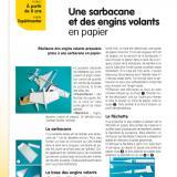 Gabarits de la fiche « Une sarbacane et des engins volants en papier », parue dans Le Journal de l'Animation n° 203 (novembre 2019)