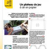 Gabarits de la fiche « Un plateau de jeu à air en papier », parue dans Le Journal de l'Animation n° 204 (décembre 2019)