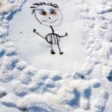 Fantômes de glace et peinture sur neige