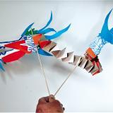 Un dragon pour célébrer le Nouvel An chinois