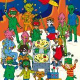 """Patrons du dossier """"Vivre une journée ou une semaine chez les extraterrestres"""" duJournal de l'Animation n°198"""